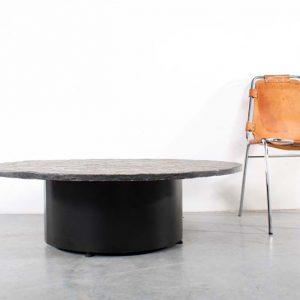 Coffee table natural stone design natuursteen slaontafel
