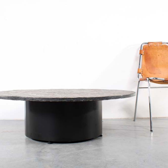 Natural Stone Coffee Table: Brutalist Design Coffee Table Natural Stone
