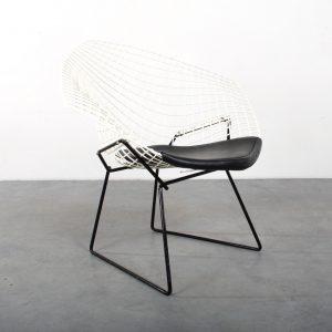 Diamond chair design Harry Bertoia Knoll fauteuil