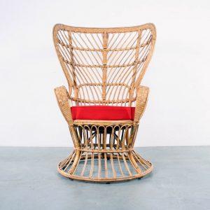 Gio Ponti design rattan chair fauteuil Bonacina