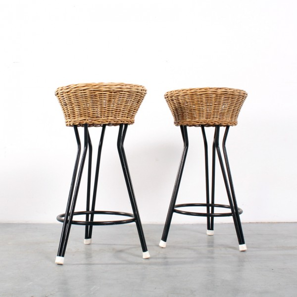 Rohé stool rattan design kruk rotan