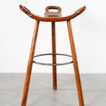 Spanish bar stools brutalist barkrukken retro wood