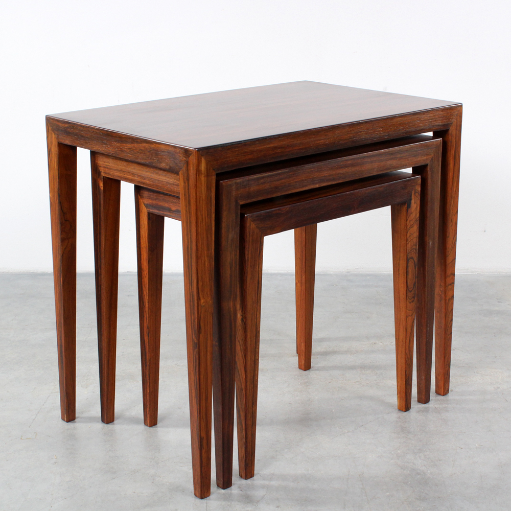 Haslev nesting tables design Severin Hansen rosewood Bovenkamp Mimiset