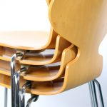 Ant chair Fritz Hansen design Mier Arne Jacobsen Danish birch