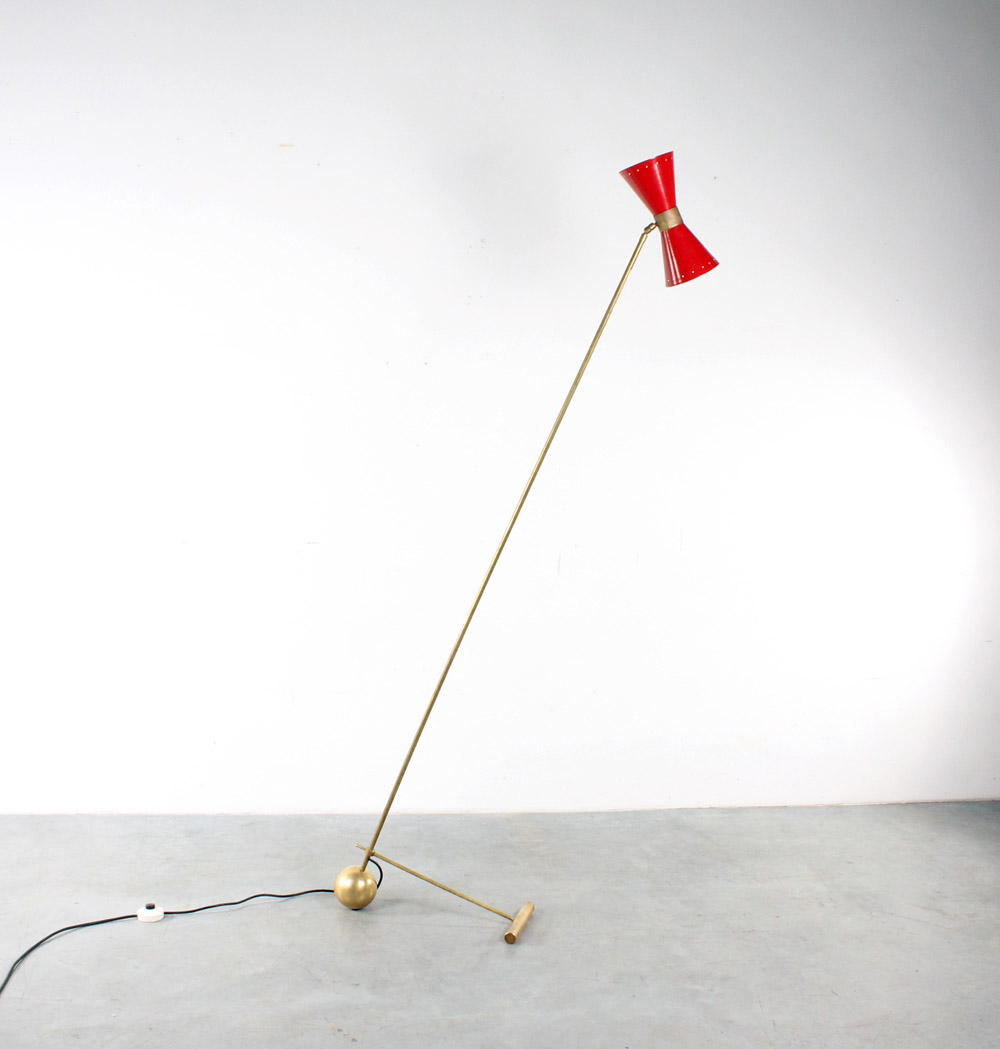 Stilnovo style floor lamp design fifties vloerlamp