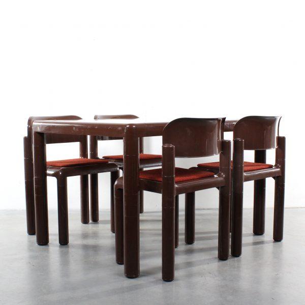 Eero Aarnio plastic dining set design UPO Finland