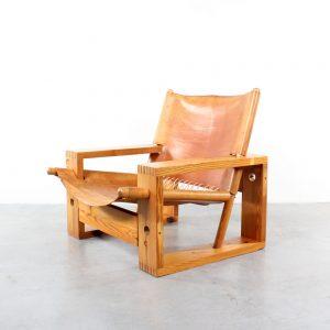Ate van Apeldoorn design pine chair Houtwerk Hattem