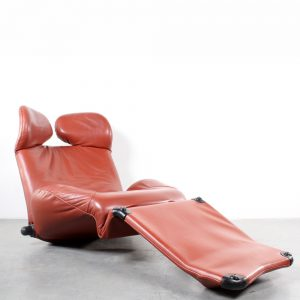 Cassina lounge chair Wink leather design Toshiyuki Kita