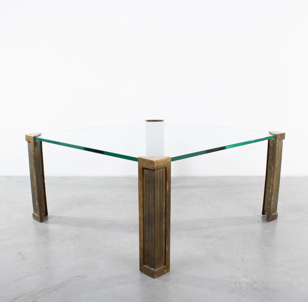 Ghyczy coffee table brass design glass salontafel
