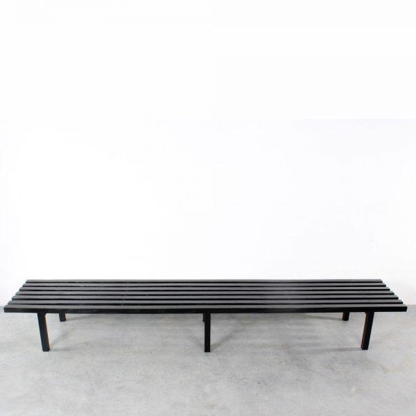 Castelijn slat bench Gijs Bakker design lattenbank black