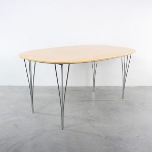 Fritz Hansen table design Arne Jacobsen Danish birch