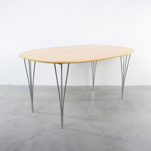 Fritz Hansen table design Arne Jacobsen Danish birch