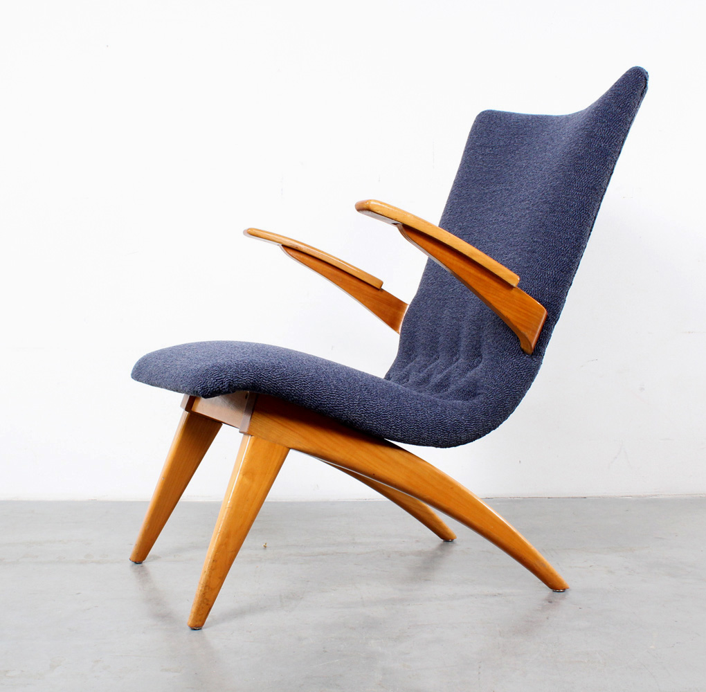van Os arm chair design fauteuil fifties retro