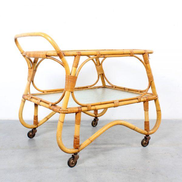 Rohé rattan serving trolley design bar cart rotan