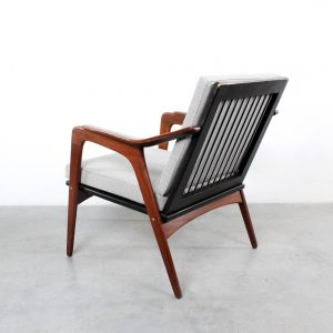 Teak armchair design retro Pastoe Danish Wébé Dutch