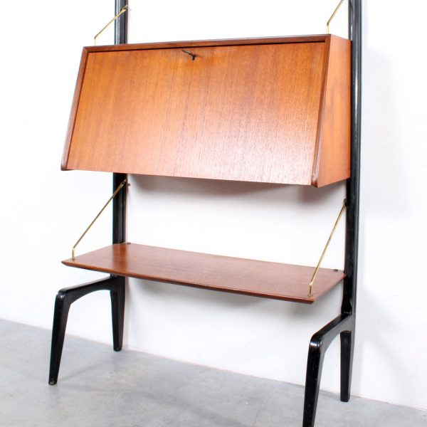 Wébé wall unit design Louis van Teeffelen teak wandsysteem