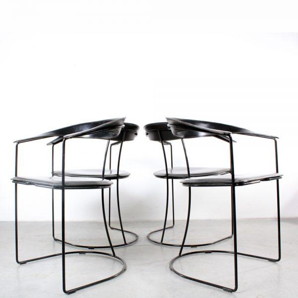 Arrben chairs design Italy stoelen leather