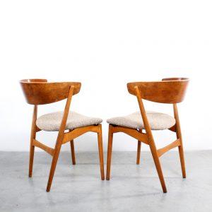 Sibast Danish design chairs 7 stoelen teak
