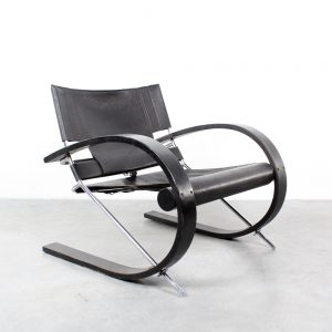 Strassle design Paul Tuttle design chair leather