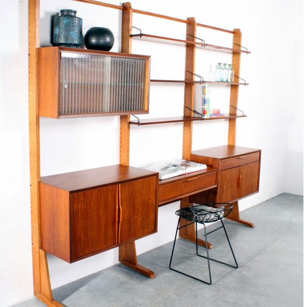 Retro vintage wandsysteem design wall unit