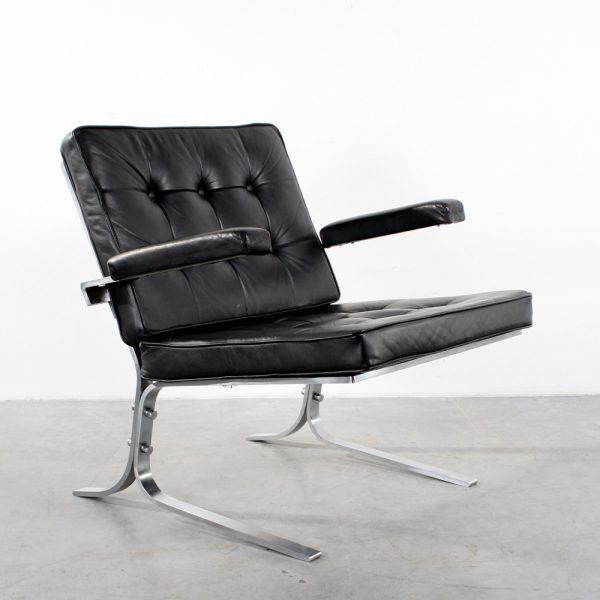 Chair Joker style leather design fauteuil leer