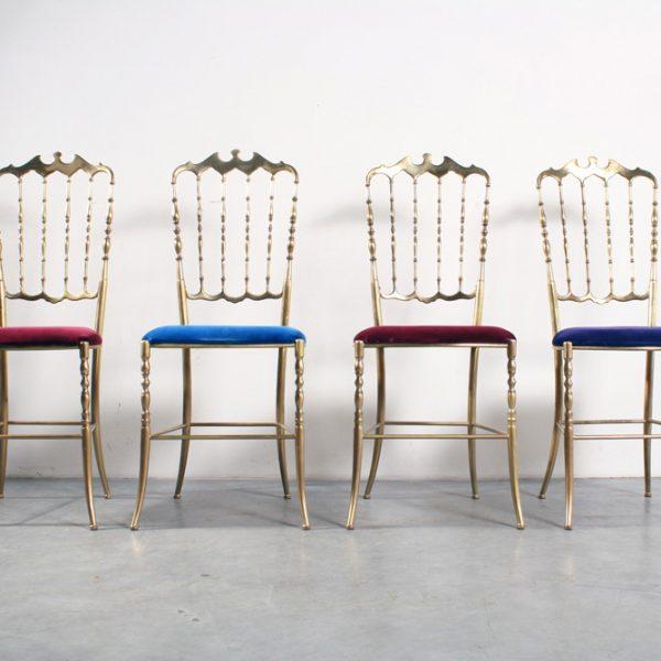 Chiavari chairs brass stoelen design Italian antique