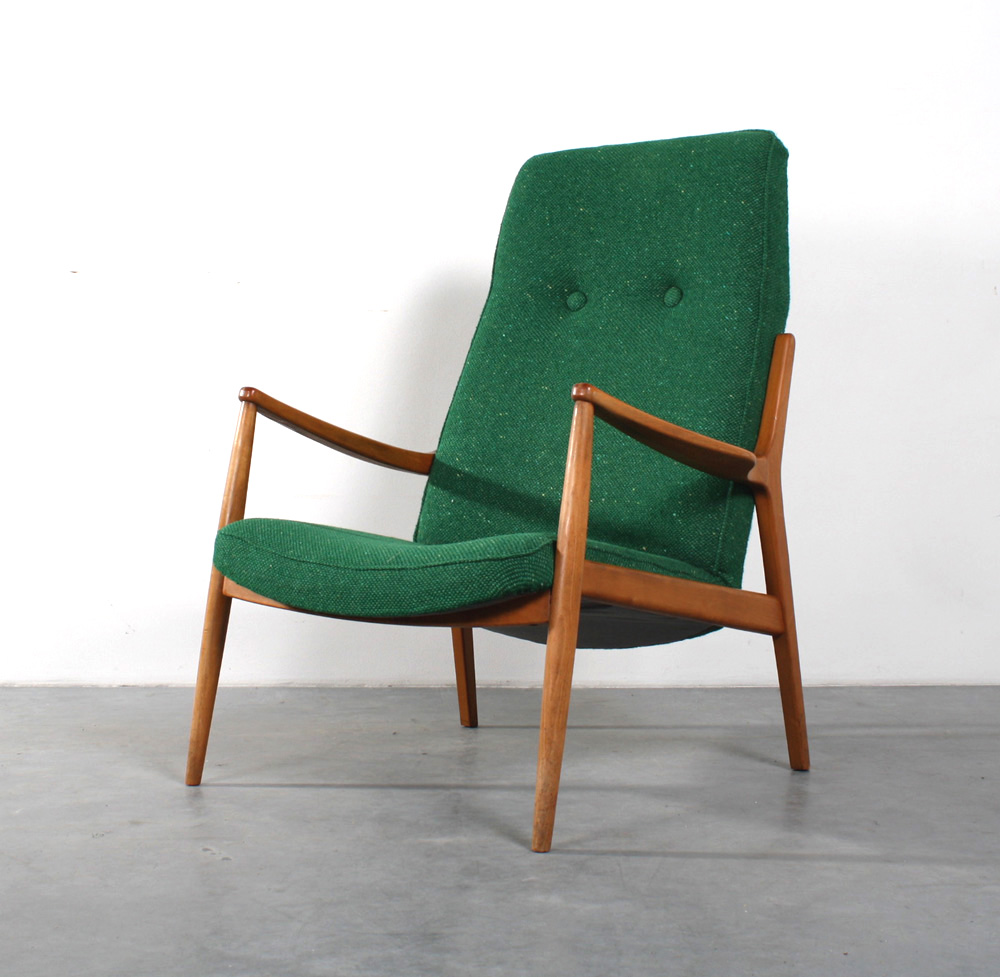 Studio1900 mid century chair fifties fauteuil retro for Fauteuil groen