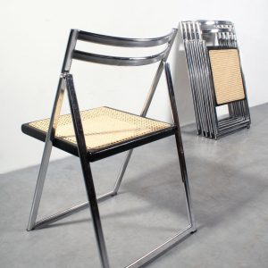 Folding design chairs Italy vintage klapstoelen