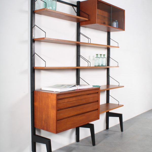 Poul Cadovius design Royal System wall unit wandsysteem