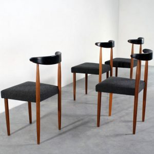 Sixties design teak chairs retro stoelen