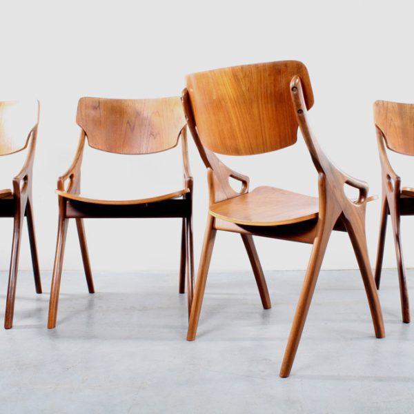Stoelen Hovmand Olsen chairs Danish design teak Deens