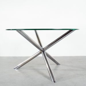 Table Roche Bobois chrome glass Tripod Arkana