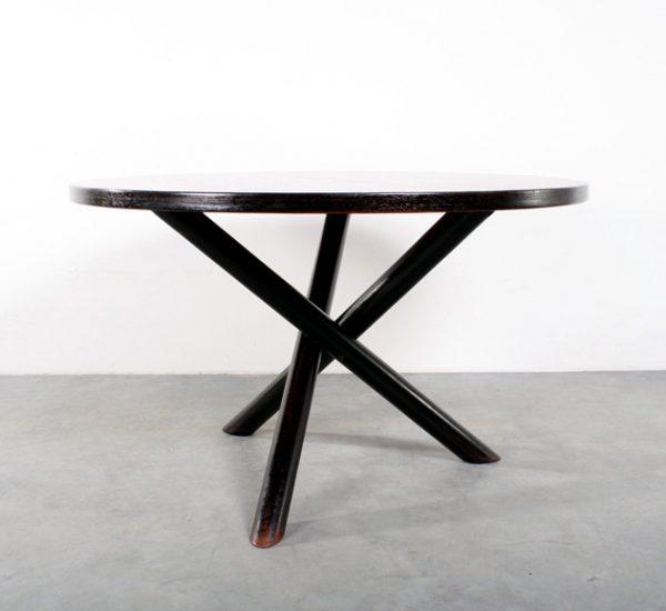 Wengé tafel tripod design table retro