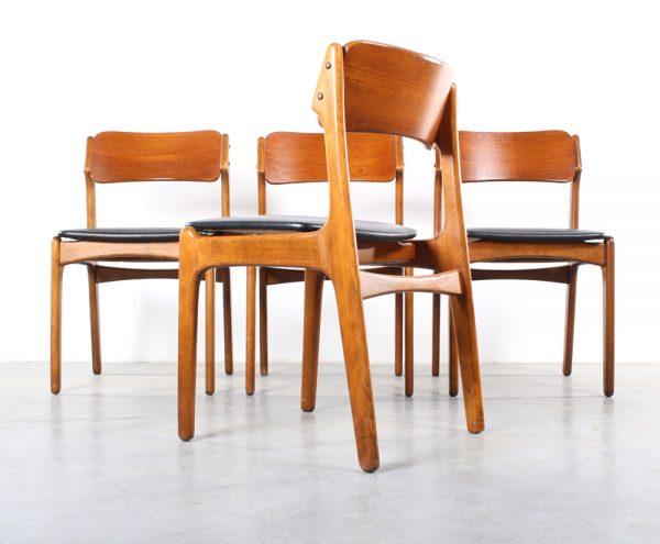 Erik Buck chairs design stoelen Danish teak