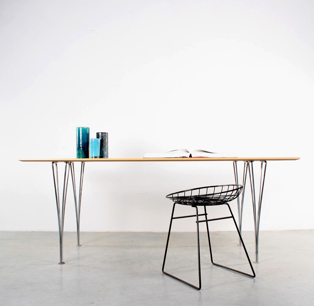 Fritz Hansen table design spanpoot tafel Piet Hein Arne Jacobsen