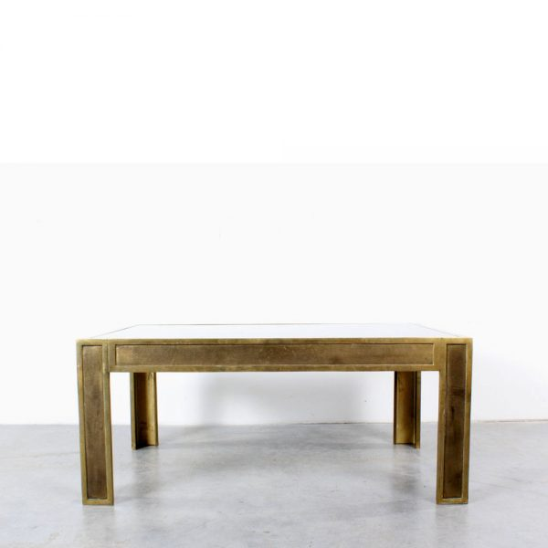 Coffee table Peter Ghyczhy design brass glass
