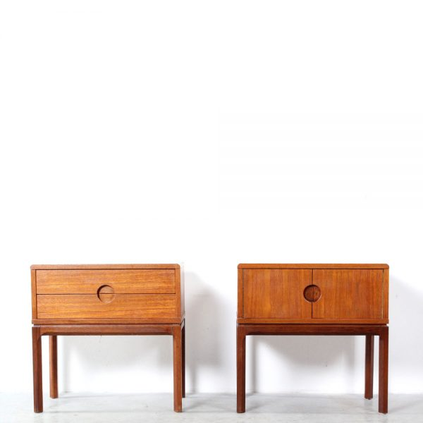 Kjersgaard night stands teak design Kai Kristiansen