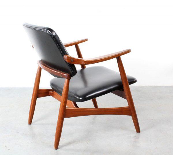 Webe design Louis van Teeffelen arm chair fauteuil teak retro