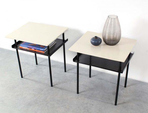 Wim Rietveld design bedside tables Auping retro nachtkastjes
