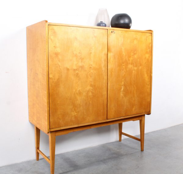Bijenkorf design birch cabinet fifties berken buffetkast retro