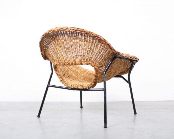 Dirk van Sliedregt design Jonkers rattan chair rotan fauteuil