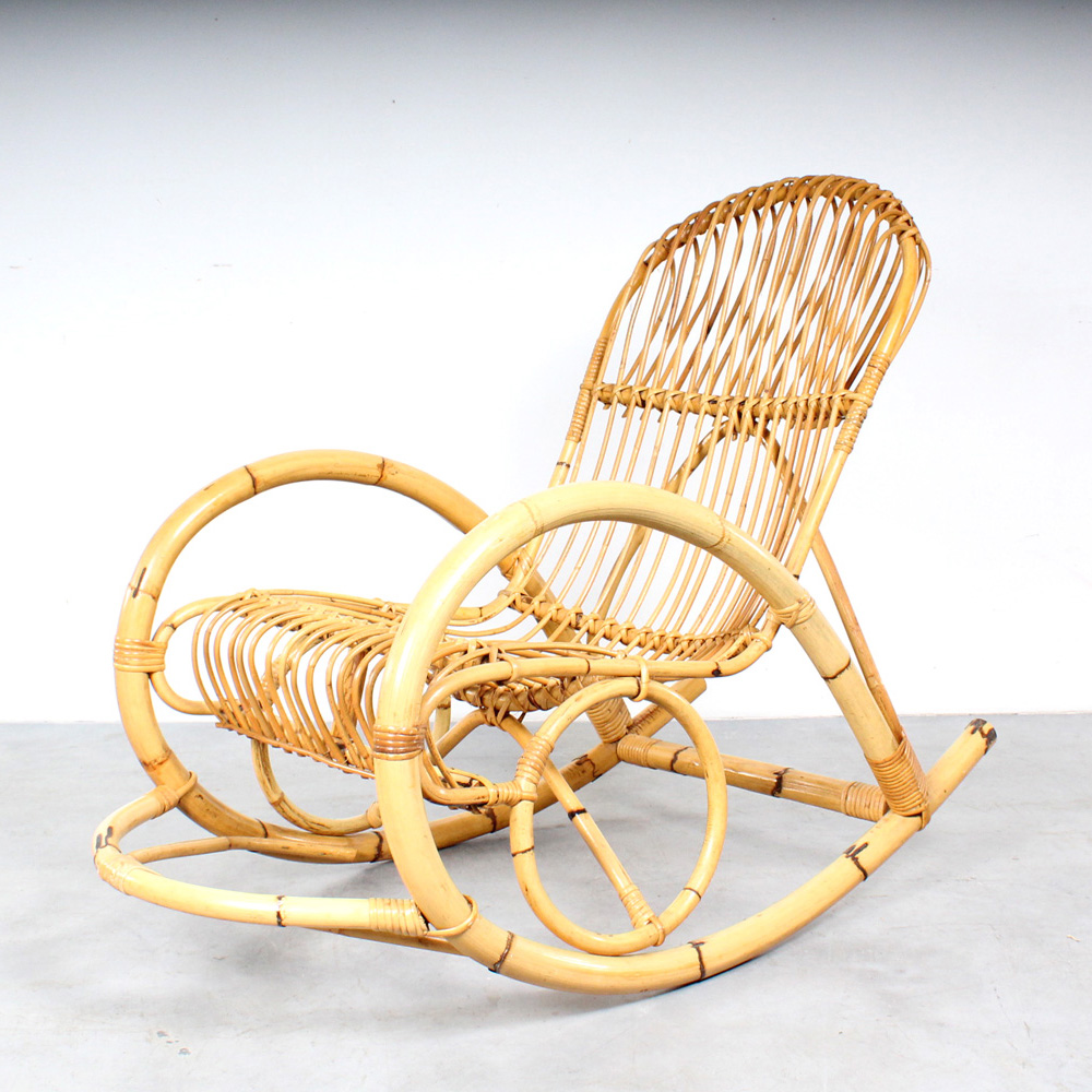 Rohé Noordwolde rocking chair schommelstoel design Albini style