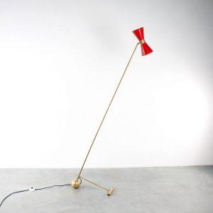 Stilnovo style floor lamp design fifties vloerlamp
