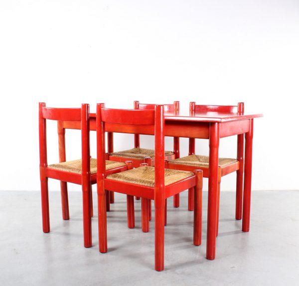 Cassina design Carimate chairs table Vico Magistretti