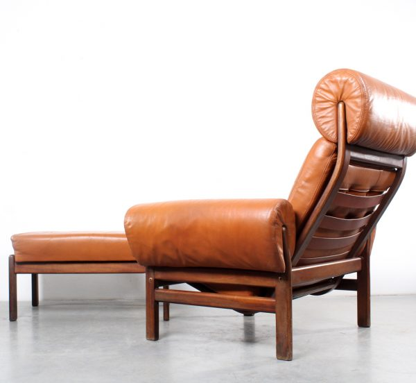 Coja lounge chair design fauteuil footstool Arne Norell