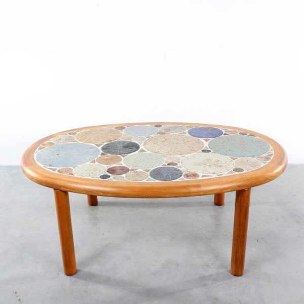 Haslev ceramic Tue Poulsen coffee table Danish design