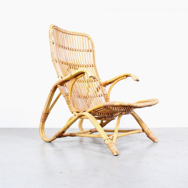Rattan lounge chair design Rohe rotan fauteuil