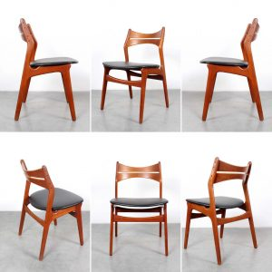 Erik Buch 310 chairs Buck design Danish teak
