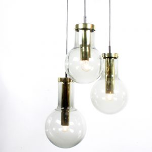 Raak lamp Maxi Globe design glass brass
