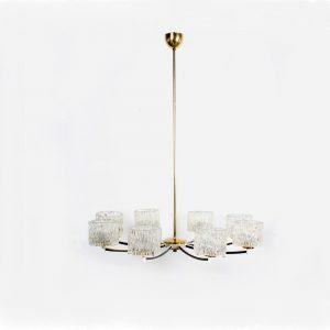 Orrefors design chandelier lamp Sweden